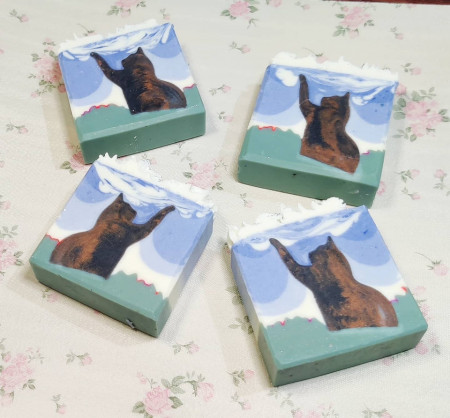 Cat in a Meadow - Cocoa Butter soap