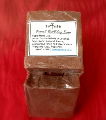 French Red Clay soap images