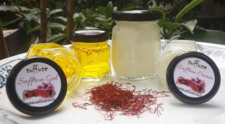 Saffron Cream and Gel
