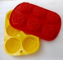 Roses 6 cavity mold - 60gm