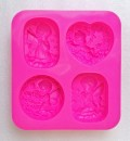 Angels & Flowers 4 cavity mold - 80gm