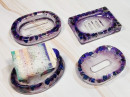 Resin Soap Dish - Purple