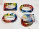 Resin Soap Dish - Rainbow