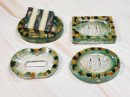 Resin Soap Dish - Emerald Green
