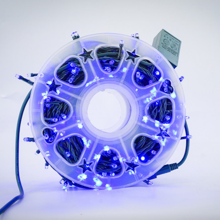 Instalatie de Craciun tip Liniara / sirag 100m, 800 leduri, Lumina Albastra, BL-362-B