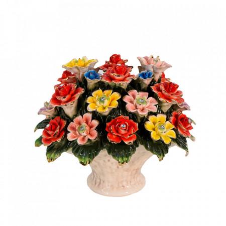 Cos cu flori din Portelan VS5103 VITTORIO SABATINI