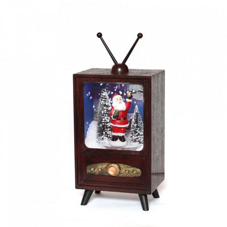 Felinar Muzical cu led si zapada artificiala in forma de Televizor/ TP-35