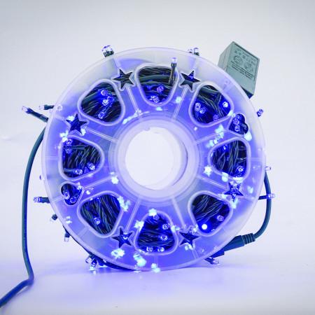 Instalatie de Craciun tip Liniara / sirag 50m, 480 leduri, Lumina Albastra, BL-361-B