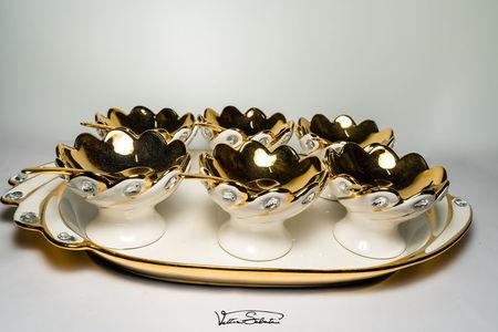 Set Cupe pentru Inghetata 13 piese din ceramica fina VT2037 VITTORIO SABATINI