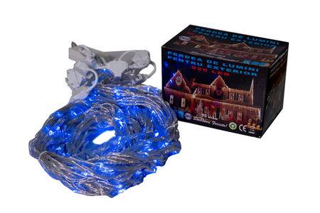 Perdea Lumini de exterior, 920 Led- Albastru 2.5m x 3m, Digitala- joc de lumini