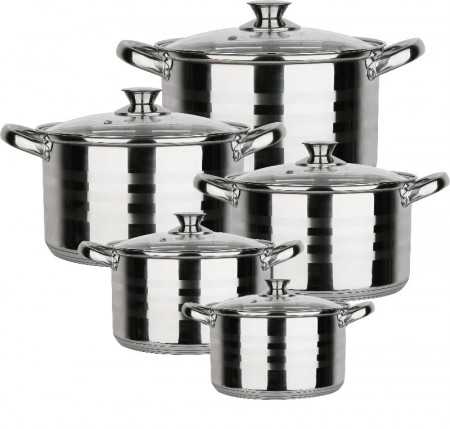 Set oale din Inox 10 piese BL-1424-10 BLAUMANN FOR YOUR HOME