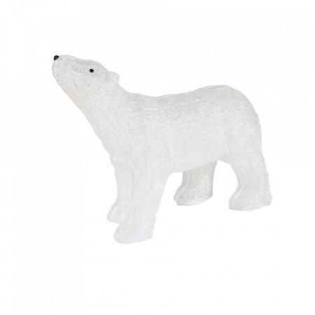 Decoratiune de esterior cu lumini, Urs Polar din acril, 176 Led-uri, dimensiune produs 60cm, 8 jocuri de lumini, cablu de alimentare 3m