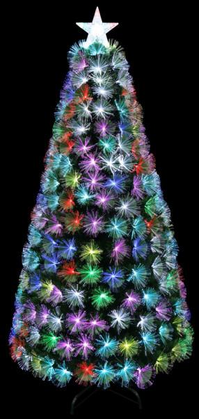 Brad Artificial 2D cu fibra optica multicolor,210cm + telecomanda