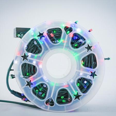 Instalatie de Craciun tip Liniara / sirag 100m, 800 leduri, Lumina Multicolora, BL-362-M