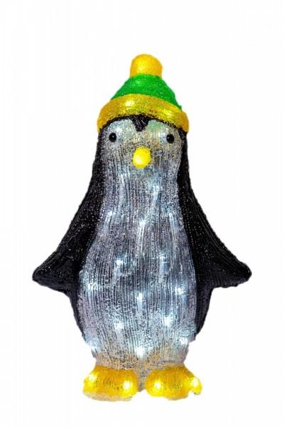 Decoratiune luminoasa pentru exterior Pinguin, h 39cm, SW-209