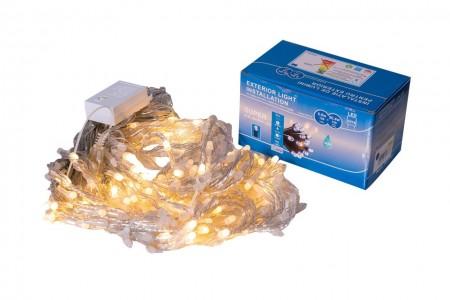 Perdea Lumini de exterior, 216 Led- Lumina Calda 2.5m x 1.5m, caseta joc de lumini, interconectabila