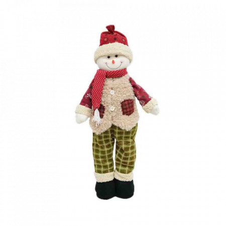 Figurina decorative din material textil Telescopic, Om de Zapada, 120cm, ID-012