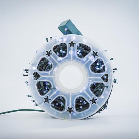 Instalatie de Craciun tip Liniara / sirag 100m, 800 leduri, Lumina Rece, BL-362-W
