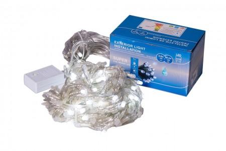 Perdea Lumini de exterior, 216 Led- Lumina Rece 2.5m x 1.5m, caseta joc de lumini, interconectabila