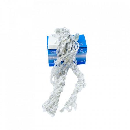 Perdea Lumini de exterior, 216 Led- Lumina Rece - Albastru 2.5m x 1.5m, caseta joc de lumini, interconectabila