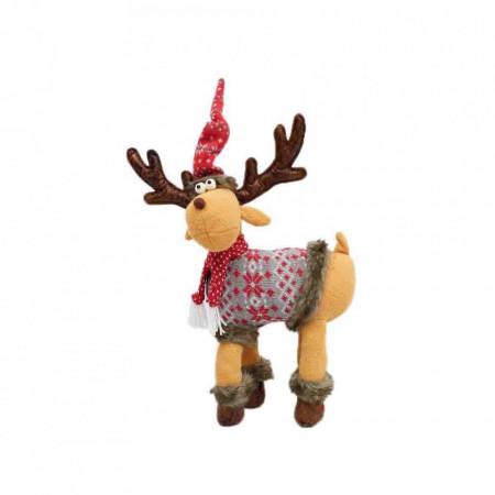 Figurina decorative din material textil , Ren, 26*10*62cm, ID-004