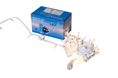 Instalatie Lumini de exterior, fir 100 Led- Lumina Calda10m, interconectabila