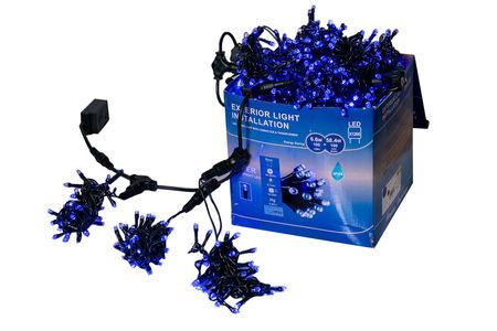 Perdea Lumini de exterior, 4m x 3m, 1200 Led Albastru, joc de lumini, interconectabila
