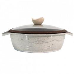 Cratita din Granit cu capac 28 cm , Rockland DST28-WH