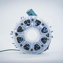Instalatie de Craciun tip Liniara / sirag 50m, 480 leduri, Lumina Alb Rece, BL-361-W
