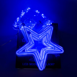Instalatie in forma de Stele , BL-380-B, Lumina Albastra