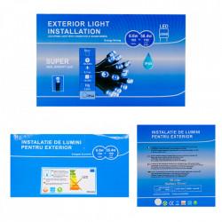 Perdea Lumini de exterior, 960 Led- Lumina Rece- Albastru 3m x 3m, joc de lumini, interconectabila