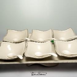 Set Cupe pentru Inghetata 13 piese din ceramica fina VT5015 VITTORIO SABATINI