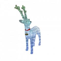 Decoratiune de exterior cu lumini, Ren din acril, 40 Led-uri, dimensiune produs 60cm, 8 jocuri de lumini, cablu de alimentare 3m