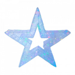 Decoratiune luminoasa pentru exterior, Stea Medie, 80*80*20cm, 150 LED RGB multicolor cu telecomanda