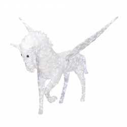 Decoratiune luminoasa pentru exterior Unicorn, h 180cm