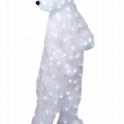 Decoratiune luminoasa pentru exterior, Urs Polar, h105cm, SW-200