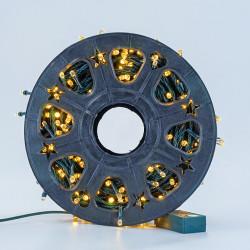 Instalatie de Craciun tip Liniara / sirag 100m, 800 leduri, Lumina Alb Cald, BL-362-WW
