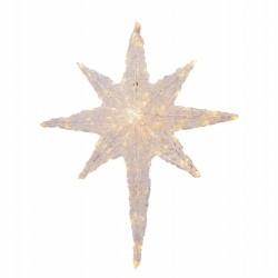 Decoratiune luminoasa pentru exterior, Stea, 100cm, 100 Led