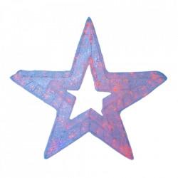 Decoratiune luminoasa pentru exterior, Stea Mare, 100*100*20cm, 200 LED RGB multicolor cu telecomanda
