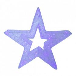 Decoratiune luminoasa pentru exterior, Stea Mica, 60*60*20cm, 100 LED RGB multicolor cu telecomanda