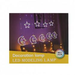 Instalatie in forma de Luna cu Stelute si inimioare , BL-385-CLD, Lumina Calda