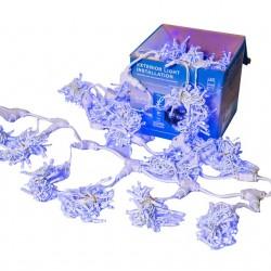 Perdea Lumini de exterior,  5m x 3m, 1200 Led Albastru, interconectabila