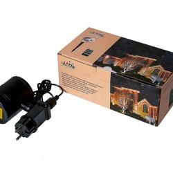 Proiector laser exterior IP44, joc de lumini albastru si rosu