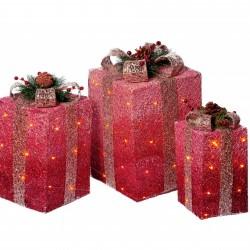 Set 3 cutii cadou cu Led-uri