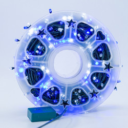 Instalatie de Craciun tip Liniara / sirag 50m, 480 leduri, Lumina Albastra, BL-361-WB