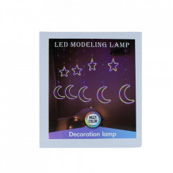 Instalatie in forma de Luna cu Stelute , BL-386-B, Lumina Albastra