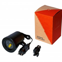 Proiector laser exterior IP44, joc de lumini verzi si rosii