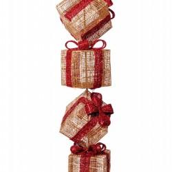 Set 4 cutii cadou cu Led-uri