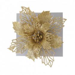 Craciunita pentru brad, glitter auriu, dimensiune 17cm