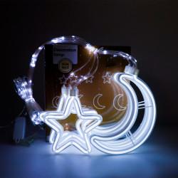Instalatie in forma de Luna cu Stelute , BL-386-W, Lumina Rece
